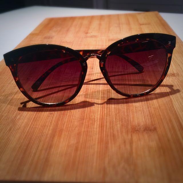 Oversized Leopard Print Sunglasses