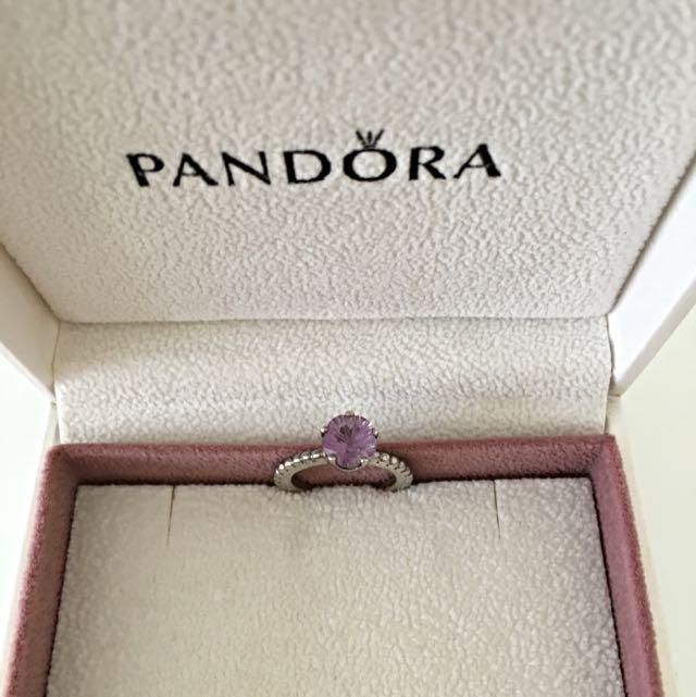 PANDORA Ring with Amethyst
