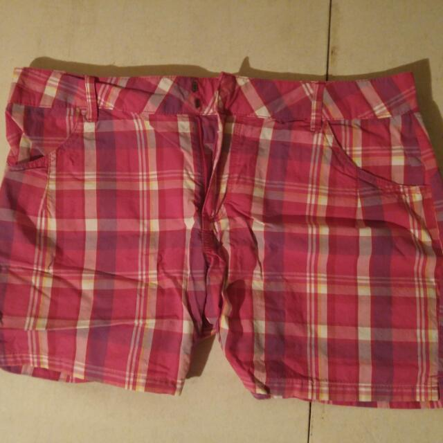 Pink Plaid Shorts (sz 10)