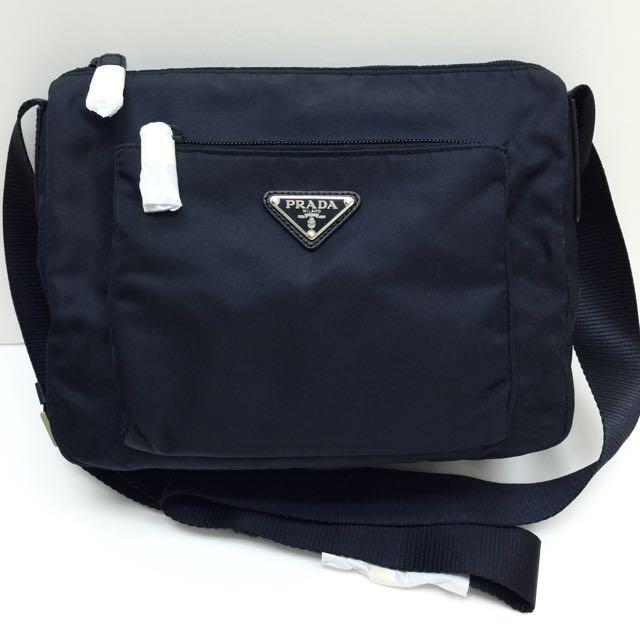 2038def5c489 PRADA Bleu Crossbody Messenger Sling Bag 100% AUTHENTIC+BRAND NEW ...
