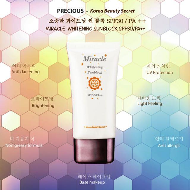 Precious Miracle Whitening Sunblock SPF30/PA++