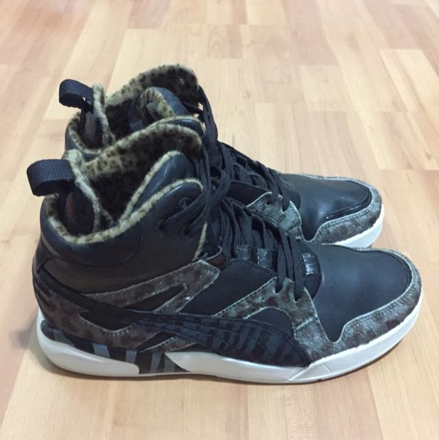 huge selection of 0a62f 8a3b8 Puma Future Trinomic Slipstream Lite Black Animal Prints Leather Sneakers  Mens US9 UK8 EUR42 Pre-loved!, Men s Fashion on Carousell