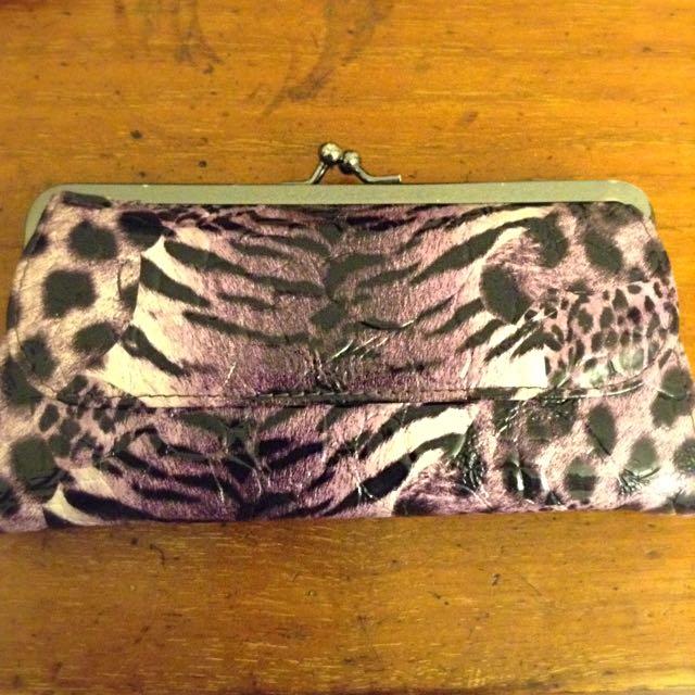 Purple Zebra Print Purse
