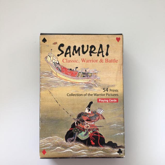 Samurai Poker Cards Toys Games On Carousell