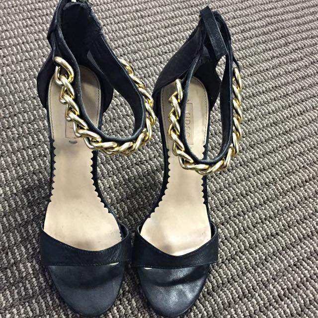 Siren gold chain heels