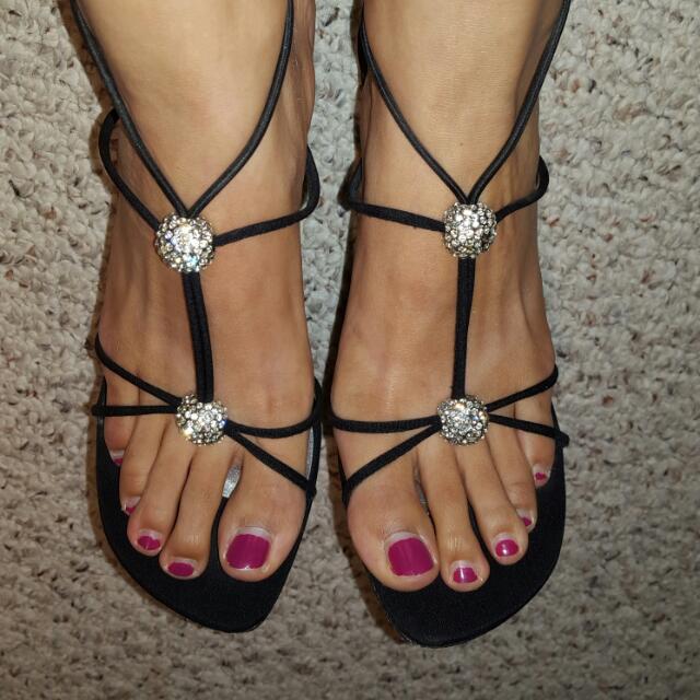 Size 7.5 Stuart Weitzman Strappy Rhinestone Sandal