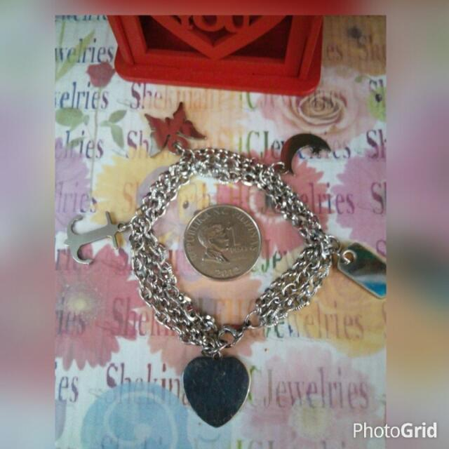 Stainless Bracelet with Charms