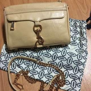 Rebecca Minkoff Purse Clutch Bag Nude Cream Rose Gold