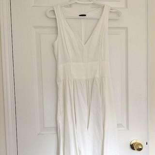 White Theory Plunging V-neck Dress