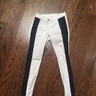 Rag And Bones White Jeans Black Stripe