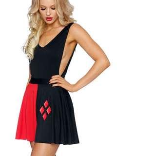 HALLOWEEN **NEW w/Tags** XXS Harley Quinn Black Milk Pocket Skater Skirt