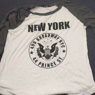 New York Baseball Tee