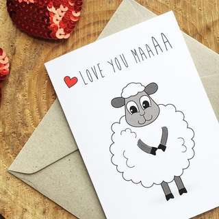Love you Maa (Mum / Mom) Greeting Card WITH Seeds for Bee and You