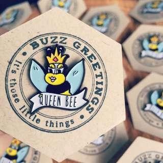 Queen Bee Lapel Pin !