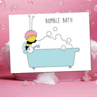 Bumble Bath Greeting Card