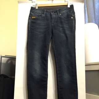 G Star Skinny Jeans In Dark Blue - Size 25