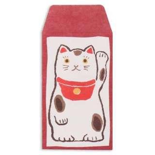 【MIJ日本製】和紙小信封袋⑧招財貓