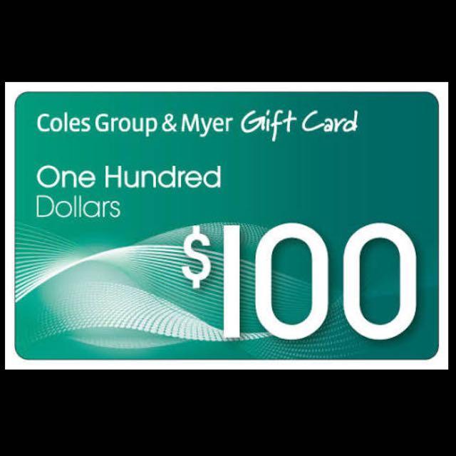 $100 Coles Myer Voucher