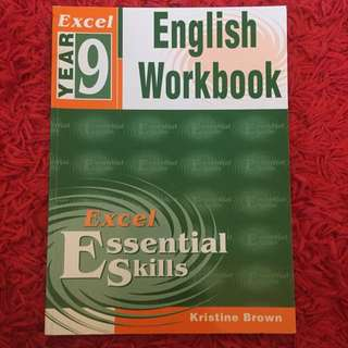 Excel Year 9 English Workbook Value $17.95