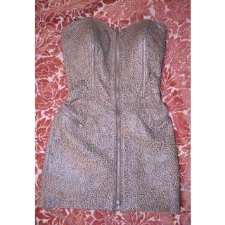 Vintage Michael Hoban North Beach Leather Mini Dress