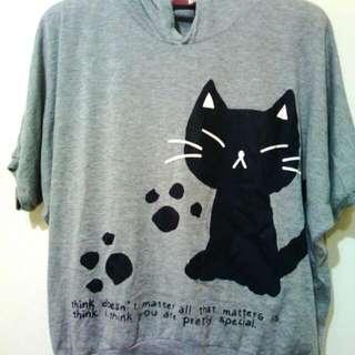 貓咪蝴蝶袖上衣