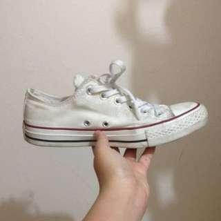 White Converse Low Cut
