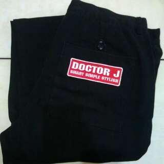 Doctor J黑色休閒褲
