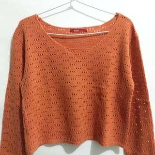 Crop Top Knit Orange