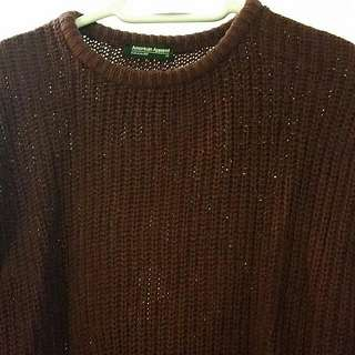 American Apparel Maroon Knit Top
