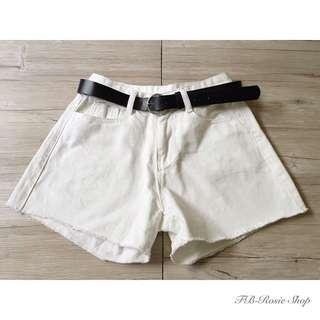皮帶牛仔短褲
