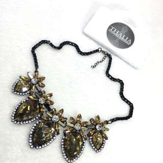 Gold Merry Crystal Necklace GG-17