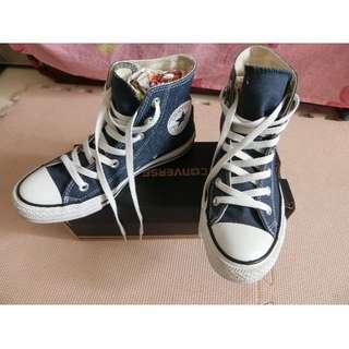八成新正品 24號 All star converse 海軍藍深藍高統高筒鞋