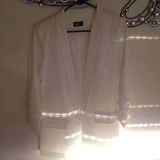 Ladies White Formal Blazer Dotti