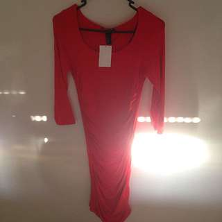 Stretchy Tight Red H&M Dress