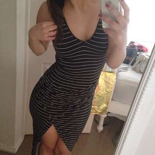 Stripy Slit Dress
