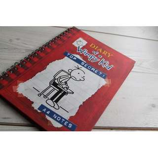 diary of a wimpy kid notebook