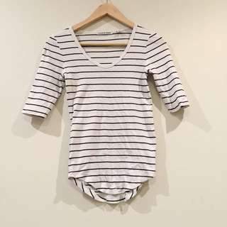 *Country Road* Stripe Black And White Top XXS