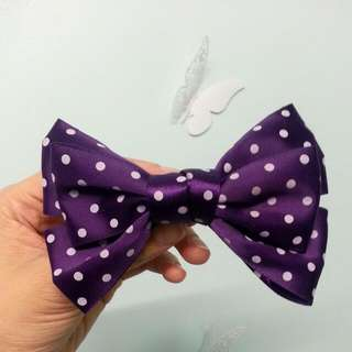 Purple Polka Dot Bow