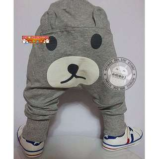 Korea Style Boy Bear Face Harron Pant 2109