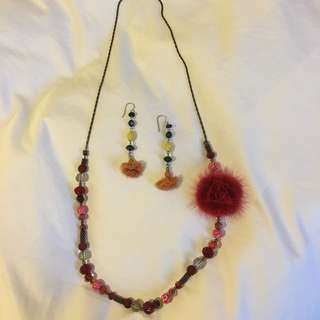 Bohemian Style Necklace With Free Earrings