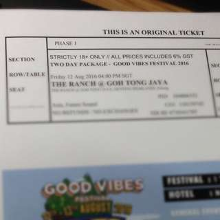 Good Vibes Festival 2016 2-Day Pass