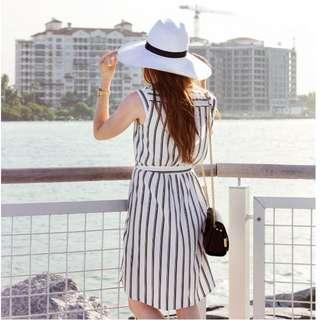 (Instock) Dorothy Perkins stripe shirt dress