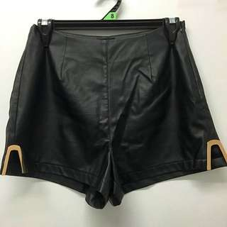 Leather High waisted Shorts
