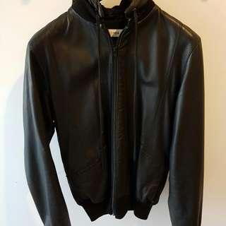 Claude Maus Leather Bomber Sz L