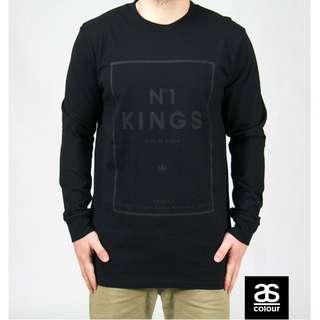 ON SALE! No1 KINGS BLACK ON BLACK LONG SLEEVE