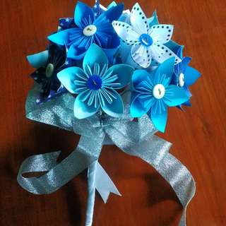 Paper Flower - Blue and Starry Kusudama Flowers