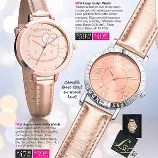 Rose Gold Faux Leather Watch