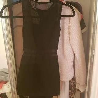Black Mini Clubbing Dress Size XS  AUD10