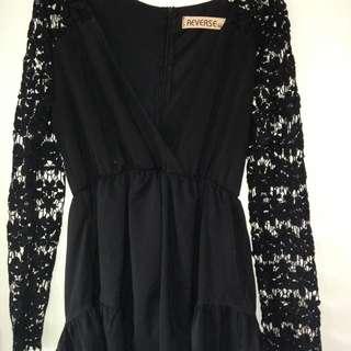 REVERSE Black Lace Jumpsuit