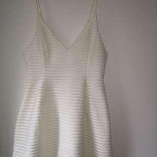 WHO AM I White Mini Dress